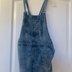 Forever 21 jean overall dress - never worn